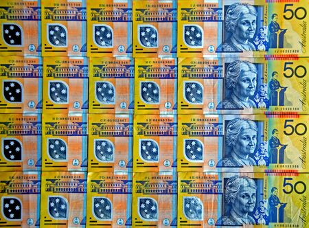 plastic money: Australian Currency - Fifty Dollar Notes