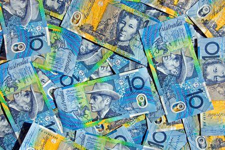 plastic money: Australian Ten Dollar Notes Stock Photo