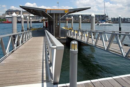 nautical structure: A floating wharf, Darling Harbour, Sydney, Australia