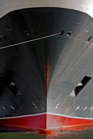 The bow of a luxury cruise ship