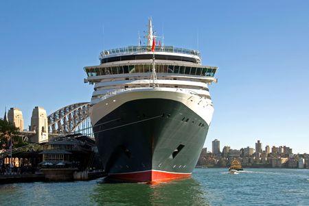 A luxury liner berthed at Circular Quay, Sydney, Australia photo