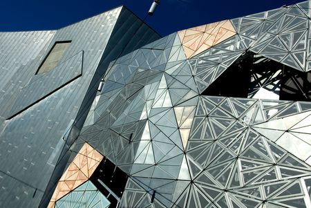 The exterior of a modern building, Melbourne, Australia