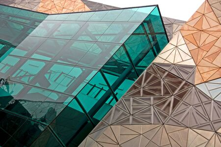 tall glass: The exterior of a modern building, Melbourne, Australia