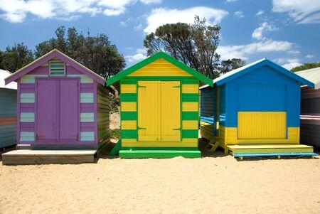 Beach Houses on Brighton Beach, Melbourne, Victoria, Australia Stock Photo - 2806826