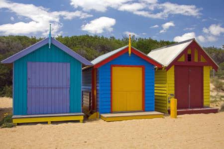 Beach Houses on Brighton Beach, Melbourne, Victoria, Australia Stock Photo - 2806825