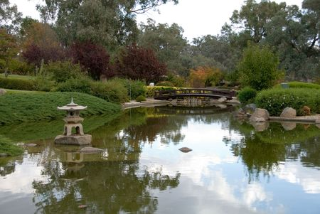 A scene from the Cowra Japanese Garden, situated in the Central West of New South Wales, Australia Stock Photo - 2938867