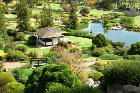 A scene from the Cowra Japanese Garden, situated in the Central West of New South Wales, Australia Stock Photo