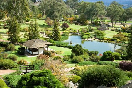 A scene from the Cowra Japanese Garden, situated in the Central West of New South Wales, Australia Stock Photo - 2938943