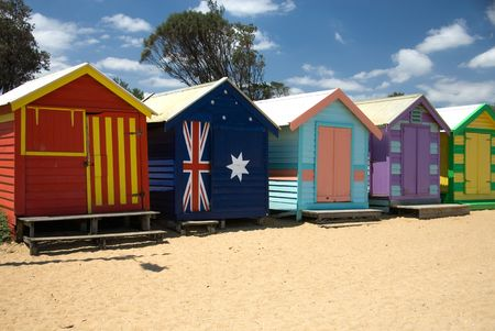 Beach Houses on Brighton Beach, Melbourne, Victoria, Australia photo