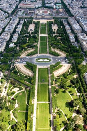 A view from the 2nd level of the Eiffel Tower, Paris, France Stock Photo