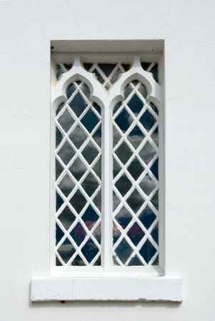 church window: Ornate church window, Christ Church, Bong Bong, near Moss Vale, New South Wales, Australia