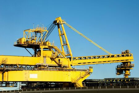 new south wales: A coal loader in Newcastle Harbour, New South Wales, Australia