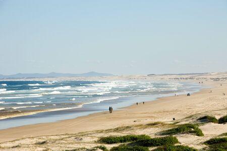 Isolated Beach, near Anna Bay, New South Wales, Australia Stock Photo