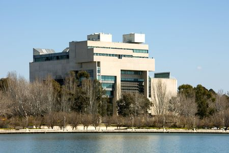 body built: The Australian High Court building, beside Lake Burley Griffin, Canberra, Australia
