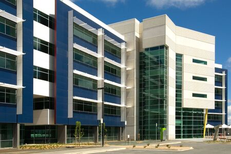 constructed: A newly constructed office building in Canberra, Australia Stock Photo