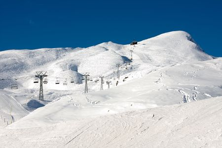 ski runs: A Chair lift and ski runs - Kleine Scheidegg - Switzerland