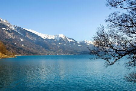 winters: Lac Leman, Switzerland, on a fine winters day
