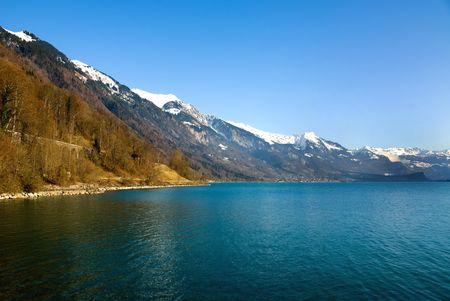 leman: Lac Leman, Switzerland, on a fine winters day
