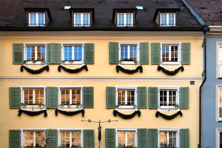 freiburg: An old inner-city building in Freiburg, Germany Stock Photo