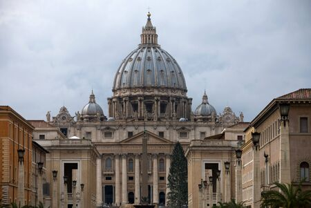 St Peters Basilica, complete with Christmas Tree, Vatican City, Italy