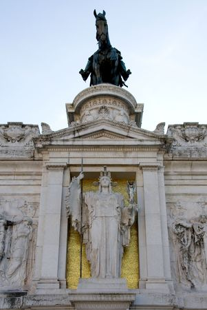 The huge equestrian sculpture featuring Victor Emmanuel photo