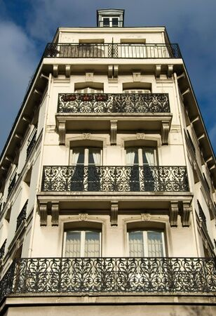 parisian: A Parisian apartment building near the River Seine, Paris, France