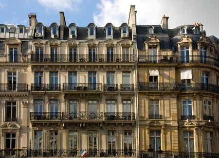 A Parisian apartment building near the River Seine, Paris, France