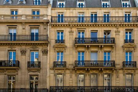 A Parisian apartment building near the River Seine, Paris, France photo