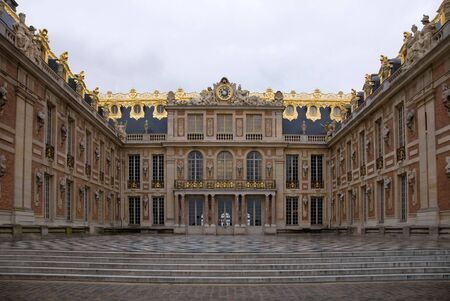 chateau: A view of the Palace of Versailles, France Stock Photo