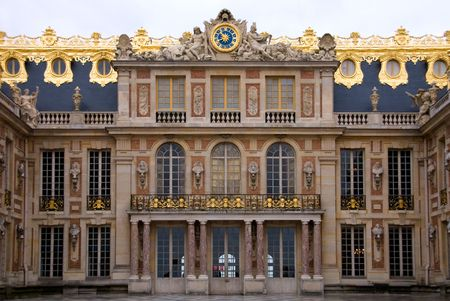 marble palace: A view of the Palace of Versailles, France Stock Photo