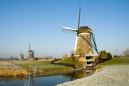 A traditional Dutch windmill at Leidschendam, the Netherlands photo