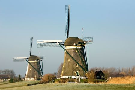 A traditional Dutch windmill at Leidschendam, the Netherlands Stock Photo - 5193153