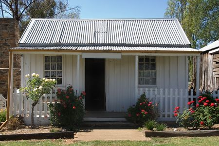 An old, small cottage in rural New South Wales, Australia photo