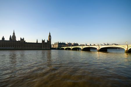 Westminster Bridge and the Houses of Parliament building, London, England Stock Photo - 5224408