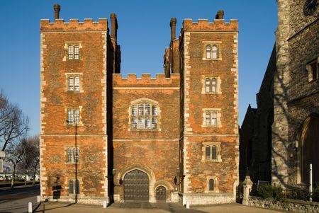 gatehouse: Mortons Tower Gatehouse - Lambeth Palace, London, England