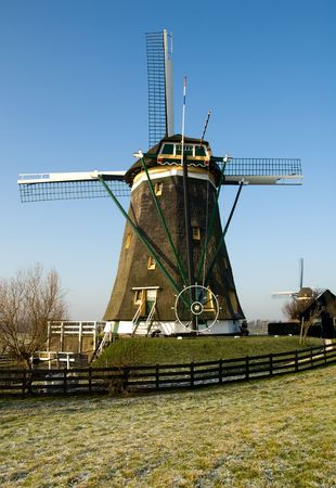 A traditional Dutch windmill at Leidschendam, the Netherlands Stock Photo - 5362173