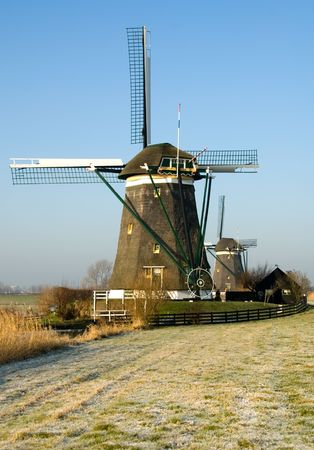 traditionally dutch: A traditional Dutch windmill at Leidschendam, the Netherlands