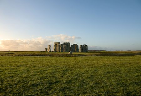 stonehenge: Stonehenge near Amesbury, Wiltshire, England, in the late afternoon on a cold Winters day Stock Photo
