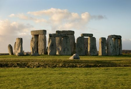 wiltshire: Stonehenge near Amesbury, Wiltshire, England, in the late afternoon on a cold Winters day Stock Photo