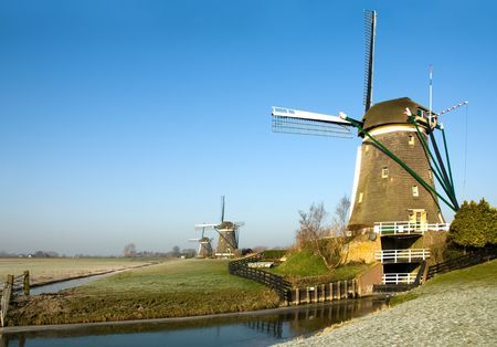 A traditional Dutch windmill at Leidschendam, the Netherlands photo