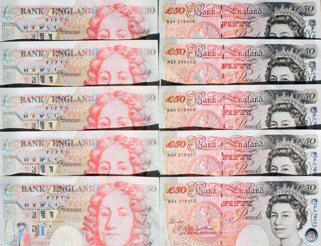 great britain: Cinquante billets d'une livre - Grande-Bretagne