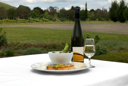 sauvignon blanc: Grilled Swordfish, with Lemon and Chive Beurre Blanc Sauced, served with a Mixed Leaf Spring Salad, accommpanied by a glass of Cabernet Sauvignon Blanc