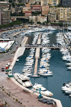 Boats crowded into the Monte Carlo marina, Monaco Stock Photo - 6443387