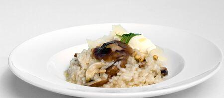 pignons de pin: Risotto de champ champignons, noix de pin, Mascapone & Grana Padano