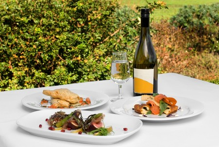 Three delicious luncheon dishes, complete with a bottle of quality Chardonnay
