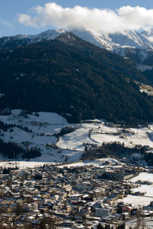 A snow-covered town in the Austrian Alps Stock Photo - 8902126