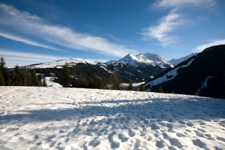 An alpine scene during Winter, Austria Stock Photo - 8901959