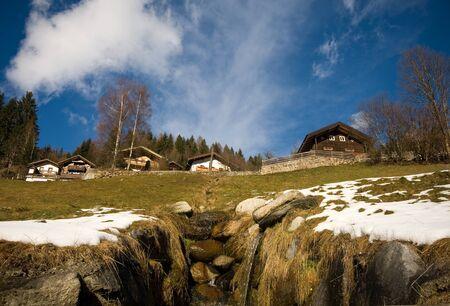 A running mountain stream, Austria photo