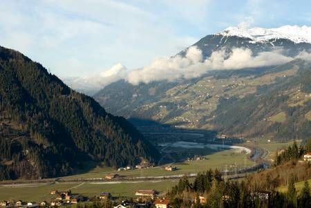 An alpine valley scene, Austria photo