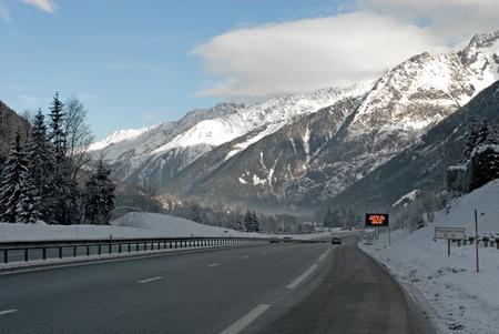 The main motorway between Geneva in Switzerland and Chamonix in France photo
